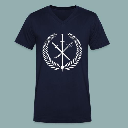 Logo Studio Neues Fechten HEMA - Männer Bio-T-Shirt mit V-Ausschnitt von Stanley & Stella