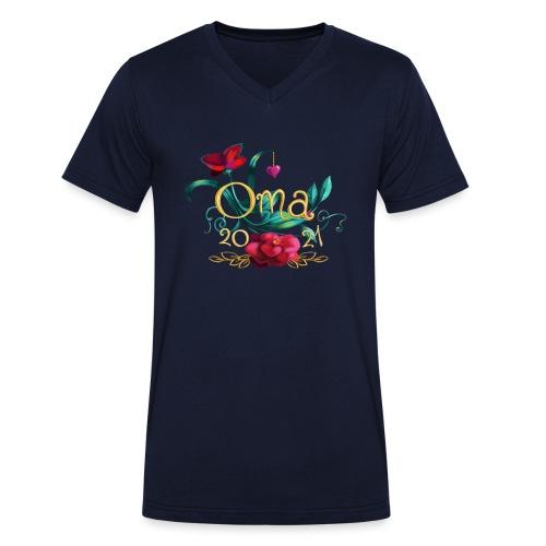 Oma 2021 - Männer Bio-T-Shirt mit V-Ausschnitt von Stanley & Stella