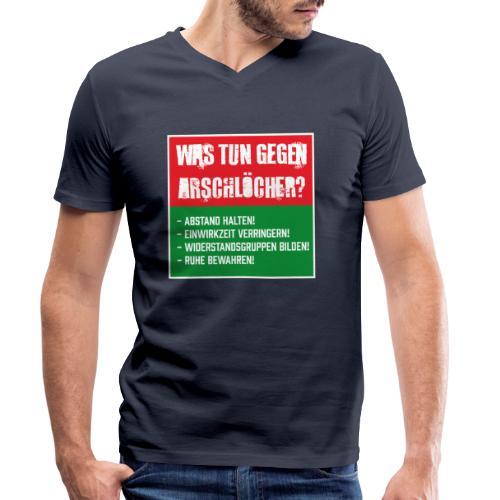 Arschlöcher - Männer Bio-T-Shirt mit V-Ausschnitt von Stanley & Stella