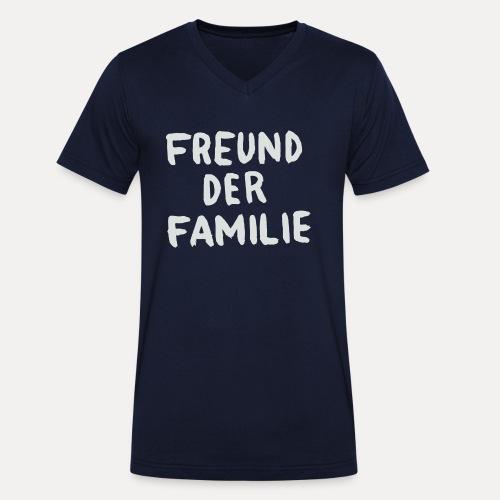 FDF LOGO WHITE - Männer Bio-T-Shirt mit V-Ausschnitt von Stanley & Stella