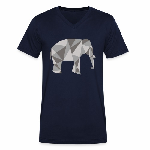 elephant géométrique - T-shirt bio col V Stanley & Stella Homme