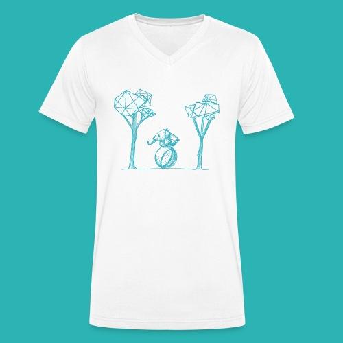 Rotolare_o_capitombolare_lightblu-png - T-shirt ecologica da uomo con scollo a V di Stanley & Stella