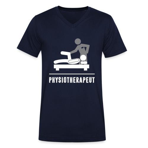 Physiotherapeut Profi - Männer Bio-T-Shirt mit V-Ausschnitt von Stanley & Stella
