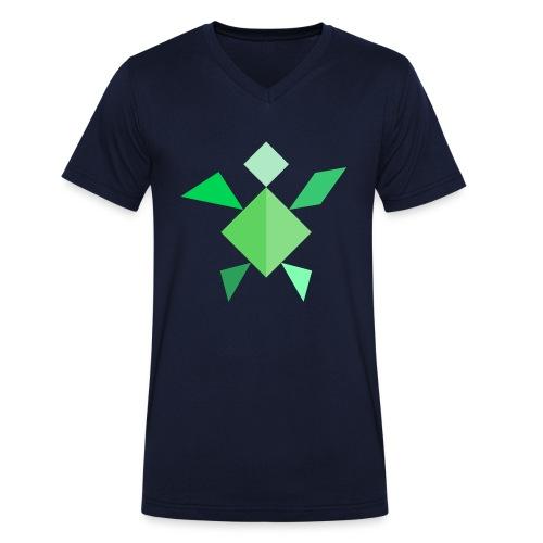 Tangram Schildkröte - Männer Bio-T-Shirt mit V-Ausschnitt von Stanley & Stella