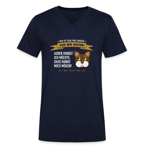 Hauptsache Hundeliebe! - Männer Bio-T-Shirt mit V-Ausschnitt von Stanley & Stella