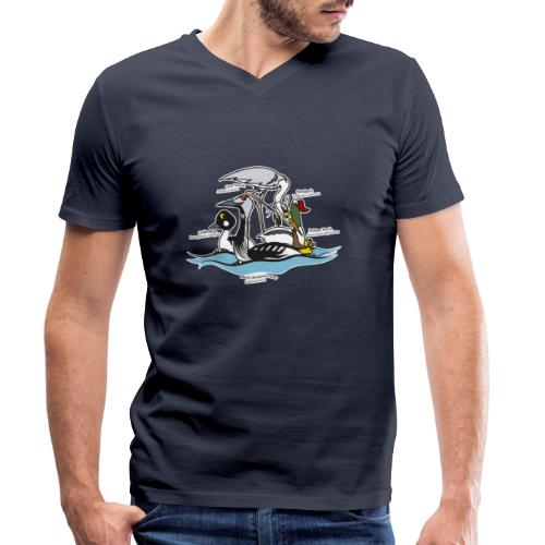 Birds of a Feather - Men's Organic V-Neck T-Shirt by Stanley & Stella