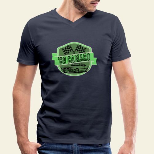 camaro logo - Økologisk Stanley & Stella T-shirt med V-udskæring til herrer