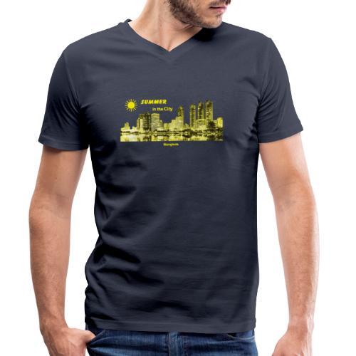 Bangkok Thailand City Summer - Männer Bio-T-Shirt mit V-Ausschnitt von Stanley & Stella
