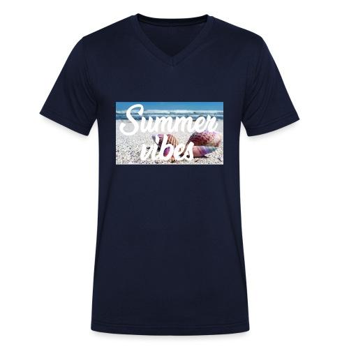 Summervibes - Männer Bio-T-Shirt mit V-Ausschnitt von Stanley & Stella