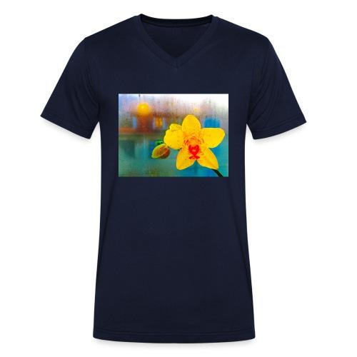 The orchid in the window - Økologisk Stanley & Stella T-shirt med V-udskæring til herrer