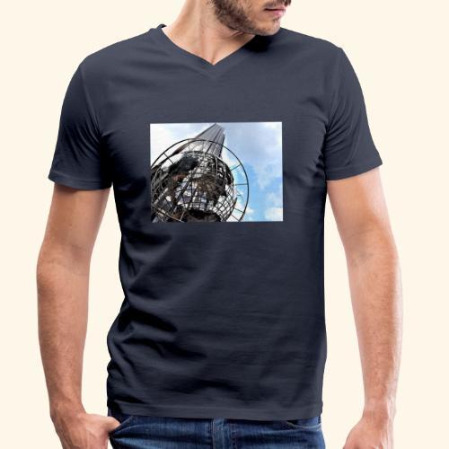 Globo americano - T-shirt ecologica da uomo con scollo a V di Stanley & Stella