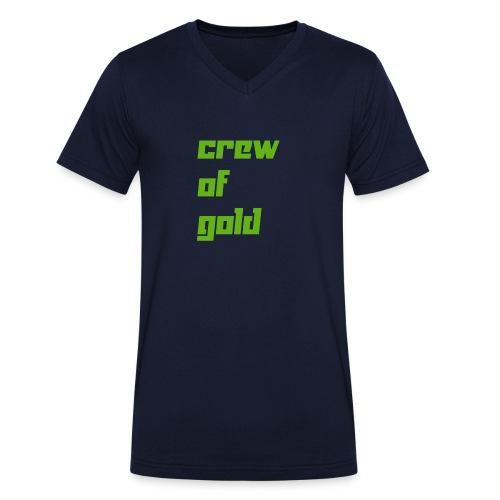 crew - T-shirt ecologica da uomo con scollo a V di Stanley & Stella