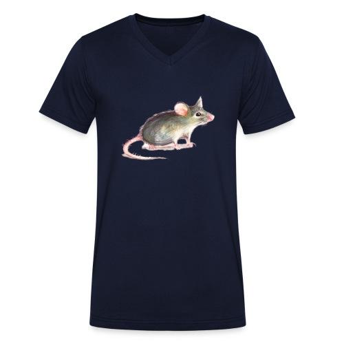 Kleine graue Maus - Männer Bio-T-Shirt mit V-Ausschnitt von Stanley & Stella
