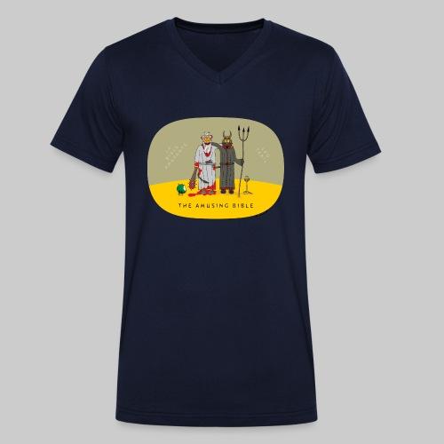 VJocys Devil - Men's Organic V-Neck T-Shirt by Stanley & Stella