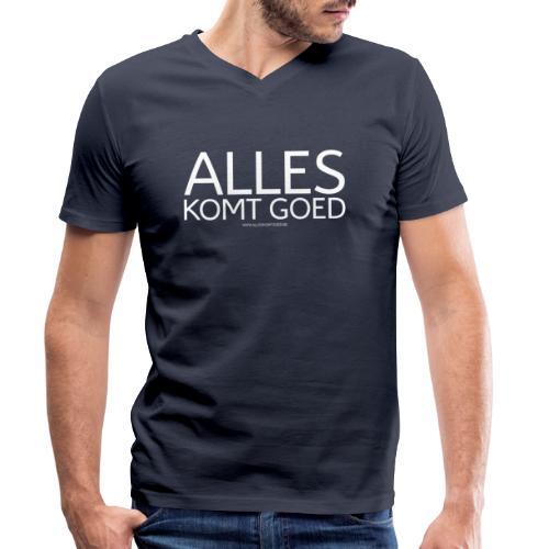 Alles komt goed - Mannen bio T-shirt met V-hals van Stanley & Stella