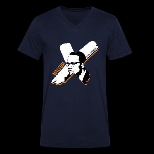 Malcom X - X Letter - Männer Bio-T-Shirt mit V-Ausschnitt von Stanley & Stella