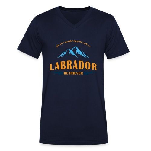 Labrador Mountain - Männer Bio-T-Shirt mit V-Ausschnitt von Stanley & Stella