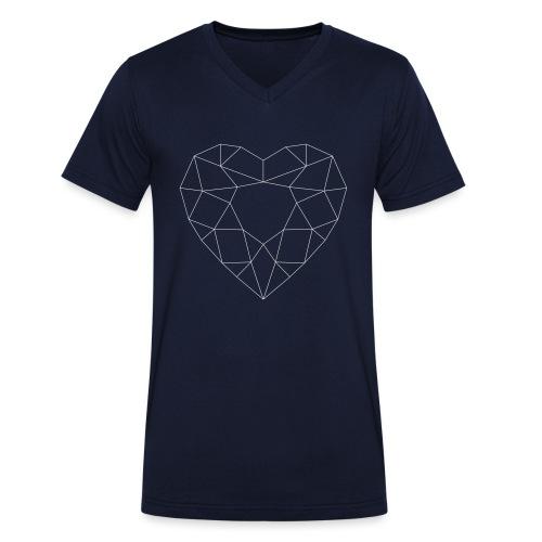 SchriftzugWhite - Männer Bio-T-Shirt mit V-Ausschnitt von Stanley & Stella