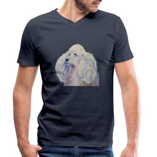 poodle standard white - Økologisk Stanley & Stella T-shirt med V-udskæring til herrer