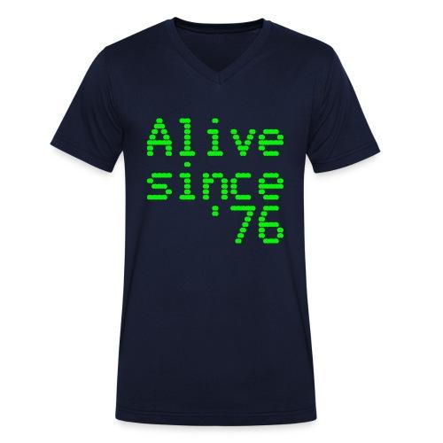 Alive since '76. 40th birthday shirt - Men's Organic V-Neck T-Shirt by Stanley & Stella