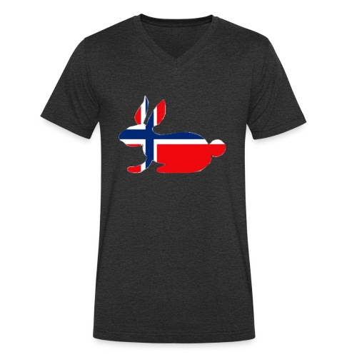 norwegian bunny - Men's Organic V-Neck T-Shirt by Stanley & Stella