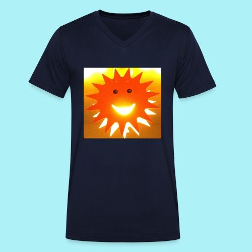 Soleil Souriant - T-shirt bio col V Stanley & Stella Homme