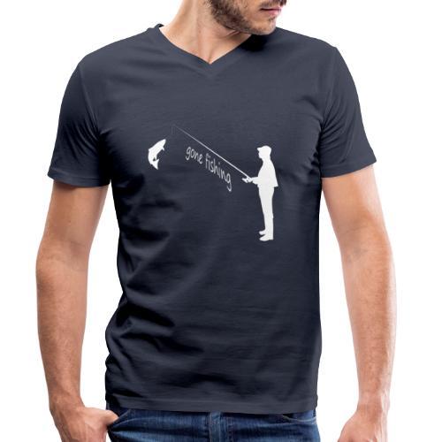 Angler gone fishing - Männer Bio-T-Shirt mit V-Ausschnitt von Stanley & Stella