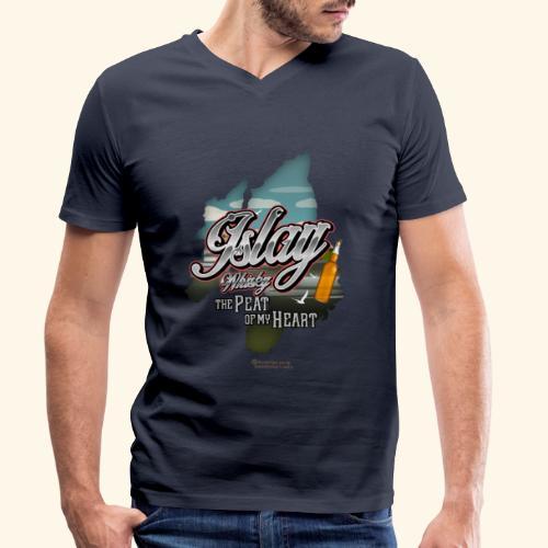 Whisky from Islay Peat of my Heart Tattoo Style - Männer Bio-T-Shirt mit V-Ausschnitt von Stanley & Stella