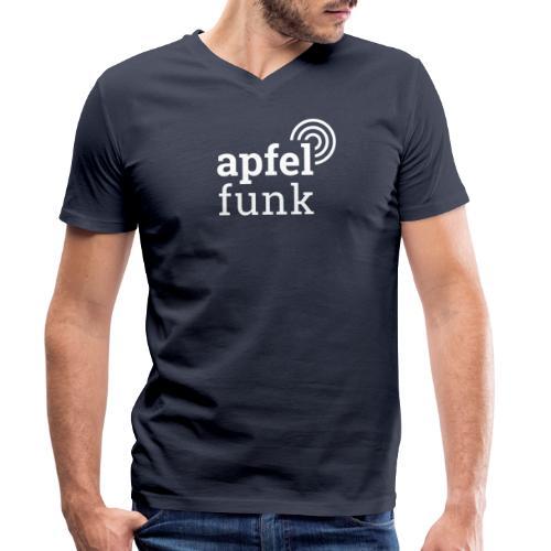 Apfelfunk Dark Edition - Männer Bio-T-Shirt mit V-Ausschnitt von Stanley & Stella