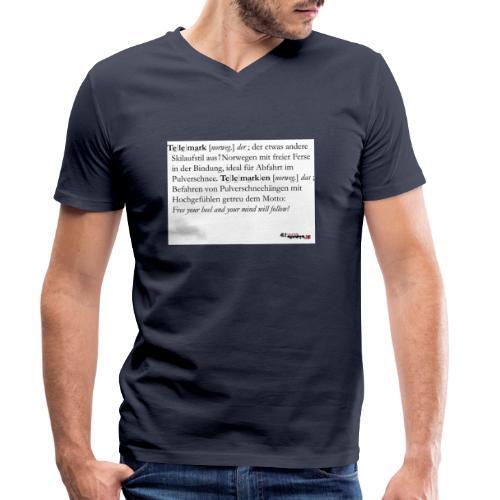 Telemark - die Definition - Männer Bio-T-Shirt mit V-Ausschnitt von Stanley & Stella