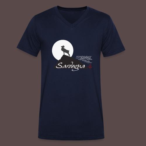 Mufflon Sardinia - T-shirt ecologica da uomo con scollo a V di Stanley & Stella