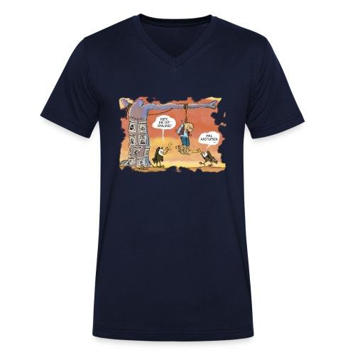 Mal anstupsen ... - Männer Bio-T-Shirt mit V-Ausschnitt von Stanley & Stella