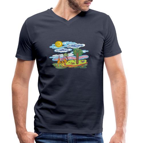 Paysage fantastique - T-shirt bio col V Stanley & Stella Homme