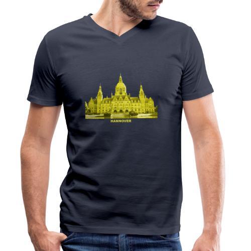 Hannover Rathaus Niedersachsen - Männer Bio-T-Shirt mit V-Ausschnitt von Stanley & Stella