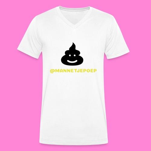 Mannetje Poep Shit - Mannen bio T-shirt met V-hals van Stanley & Stella
