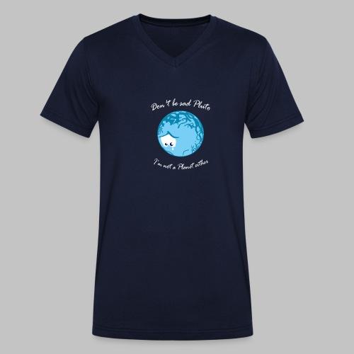 Sad Pluto - Men's Organic V-Neck T-Shirt by Stanley & Stella