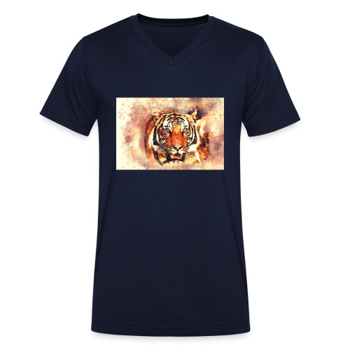 Tiger NO 1 - Männer Bio-T-Shirt mit V-Ausschnitt von Stanley & Stella