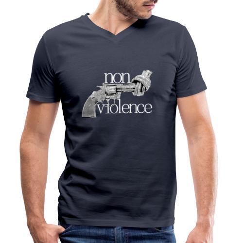 NON-VIOLENCE - Ekologisk T-shirt med V-ringning herr från Stanley & Stella