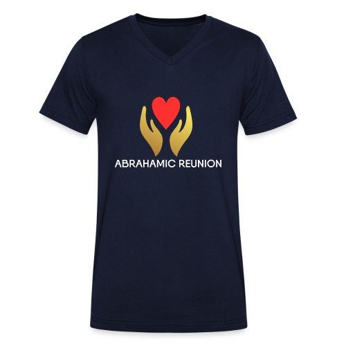 Abrahamic Reunion - Men's Organic V-Neck T-Shirt by Stanley & Stella