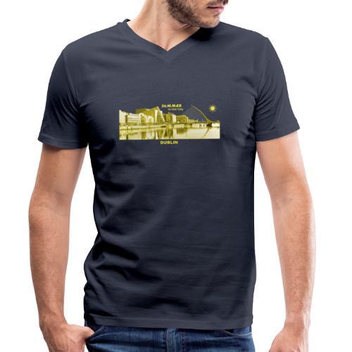 Summer Dublin City Irland Ireland Sommer Sonne - Männer Bio-T-Shirt mit V-Ausschnitt von Stanley & Stella