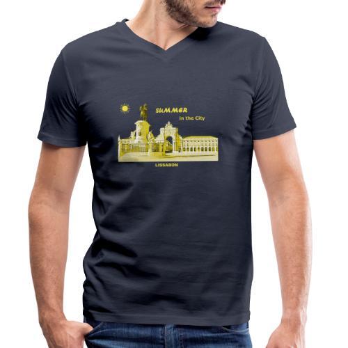Sommer Lissabon Portugal Hauptstadt City Palast - Männer Bio-T-Shirt mit V-Ausschnitt von Stanley & Stella