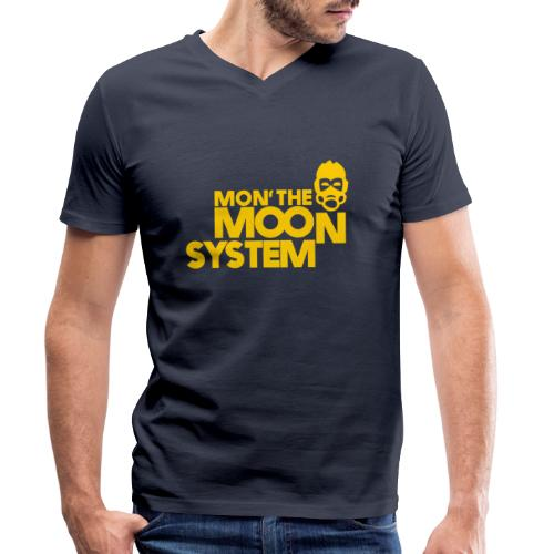 Mon' The Moon System - Men's Organic V-Neck T-Shirt by Stanley & Stella