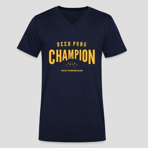 Beerpong Champion T-Shirt - Männer Bio-T-Shirt mit V-Ausschnitt von Stanley & Stella