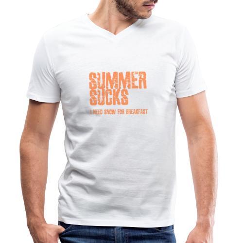 SUMMER SUCKS - Mannen bio T-shirt met V-hals van Stanley & Stella