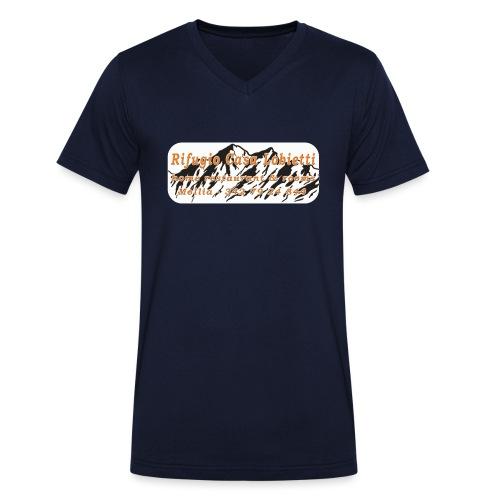 Rifugio Casa Lobietti - T-shirt ecologica da uomo con scollo a V di Stanley & Stella
