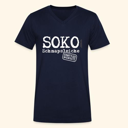 Sauf T Shirt SOKO Schnapsleiche - Männer Bio-T-Shirt mit V-Ausschnitt von Stanley & Stella