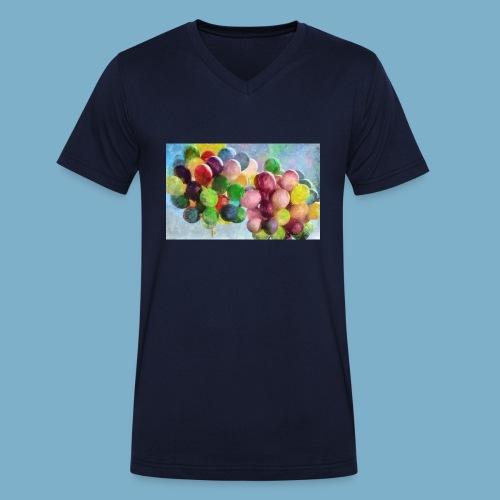 Color balloon - fliegende bunte Ballons - Männer Bio-T-Shirt mit V-Ausschnitt von Stanley & Stella