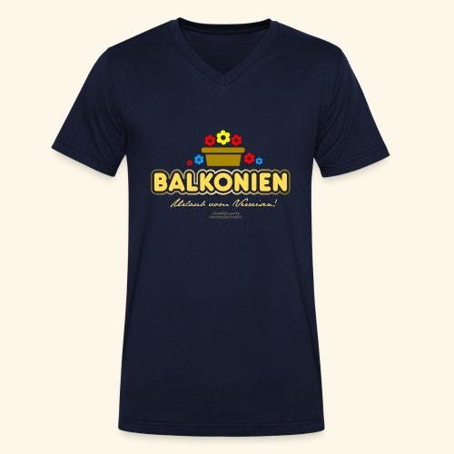 Balkonien T Shirt - Männer Bio-T-Shirt mit V-Ausschnitt von Stanley & Stella