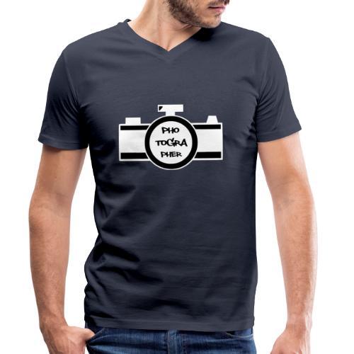 Photographer weiß - Männer Bio-T-Shirt mit V-Ausschnitt von Stanley & Stella