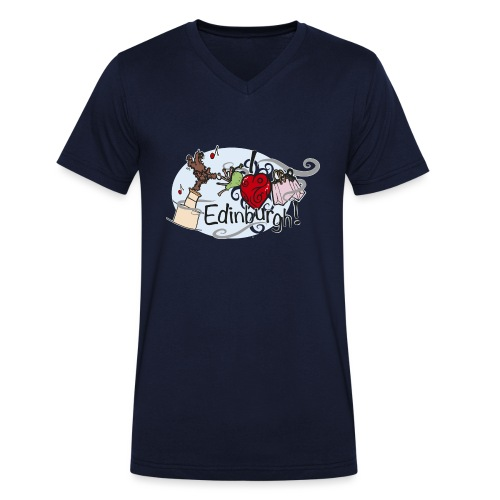 I love Edinburgh - Men's Organic V-Neck T-Shirt by Stanley & Stella